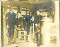 Ceramic students, spring 1903 in cadet corp uniforms
